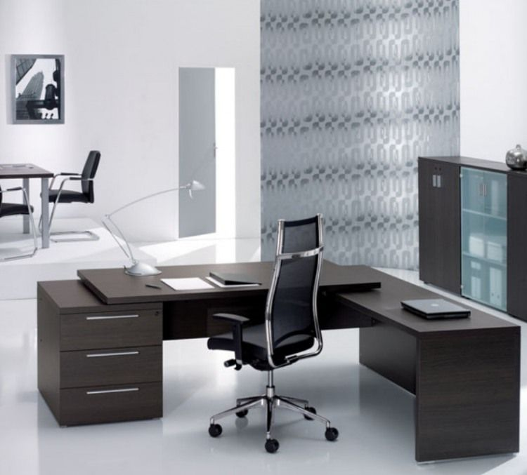 Beautiful Modern Wood Offices Homeadore Office Furniture Design Office Furniture Modern Office Table Design