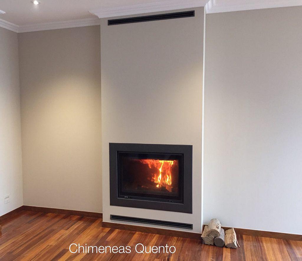 Chimenea quento con hogar hp 800 chemin e et maisons - Chimeneas quento ...