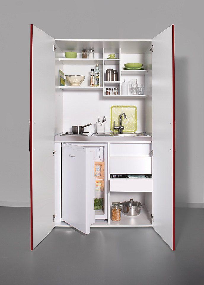 Schrankküche mit Glaskeramik-Kochfeld und Kühlschrank Jetzt ...