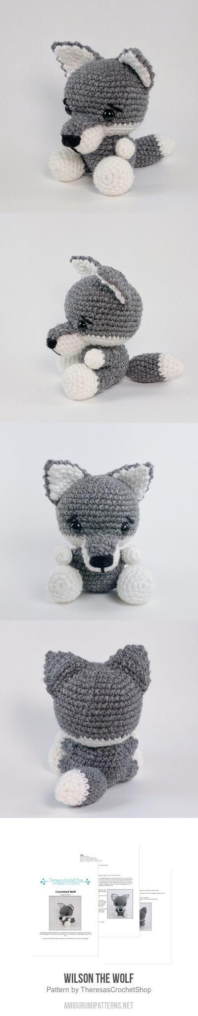 Wilson the Wolf amigurumi pattern by Theresas Crochet Shop ...
