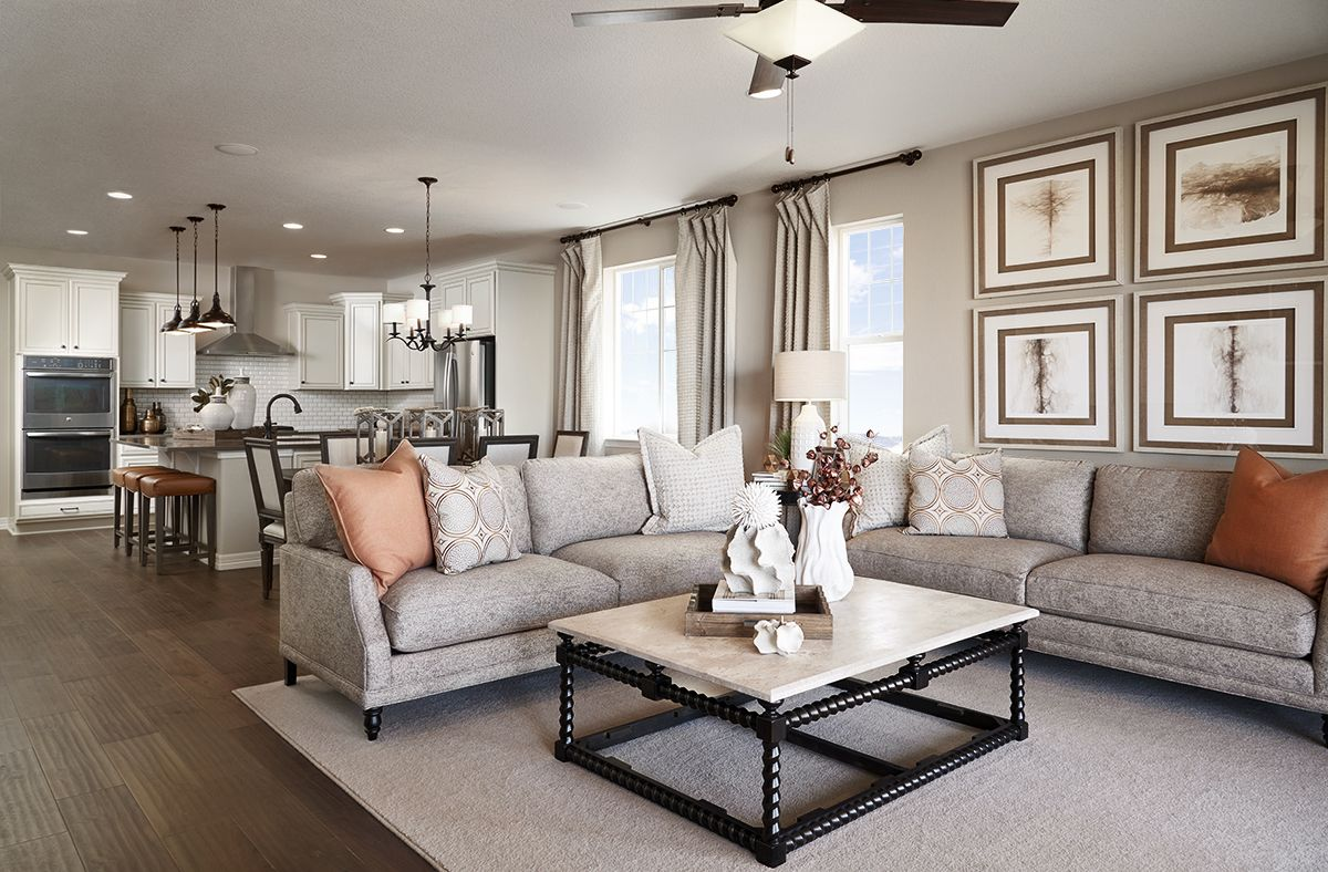 Wideopen space for entertaining Arlington model home