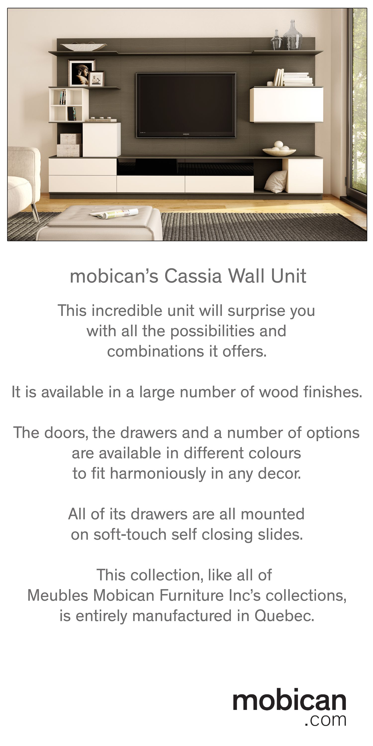 Meubles Mobican Furniture Mobican S Cassia Wall Unit Is A Stunning Piece Of Furniture Its