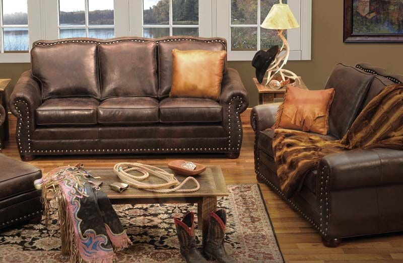 The Wooded River Jerome Davis Western Sofa Is Westernfurniture Inspired By Prca World Western Living Room Furniture Leather Living Room Set Western Furniture