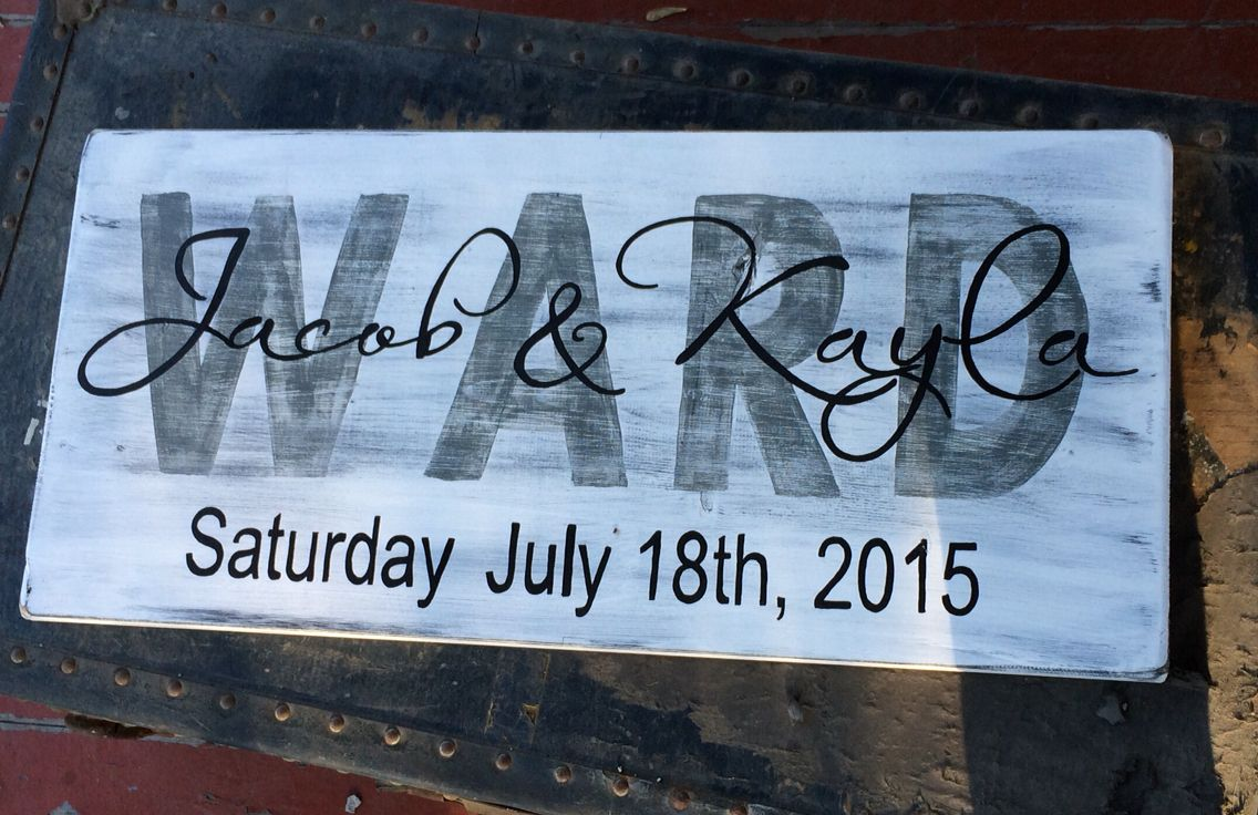 Wedding sign with names