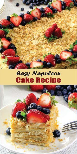 Easy Napoleon Cake Recipe #napoleoncake #napoleonkuchenrussisch