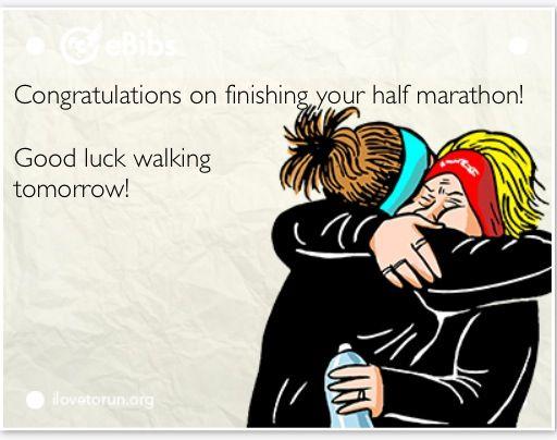 Half Marathon Funny, Congratulations Good Luck Walking