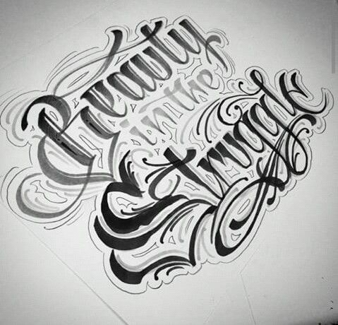 beauty in the struggle lettering pinterest tattoo fonts and tatting. Black Bedroom Furniture Sets. Home Design Ideas