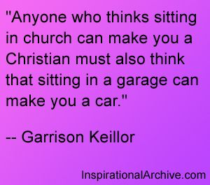 Don't just sit - move.  Love God and Love Others