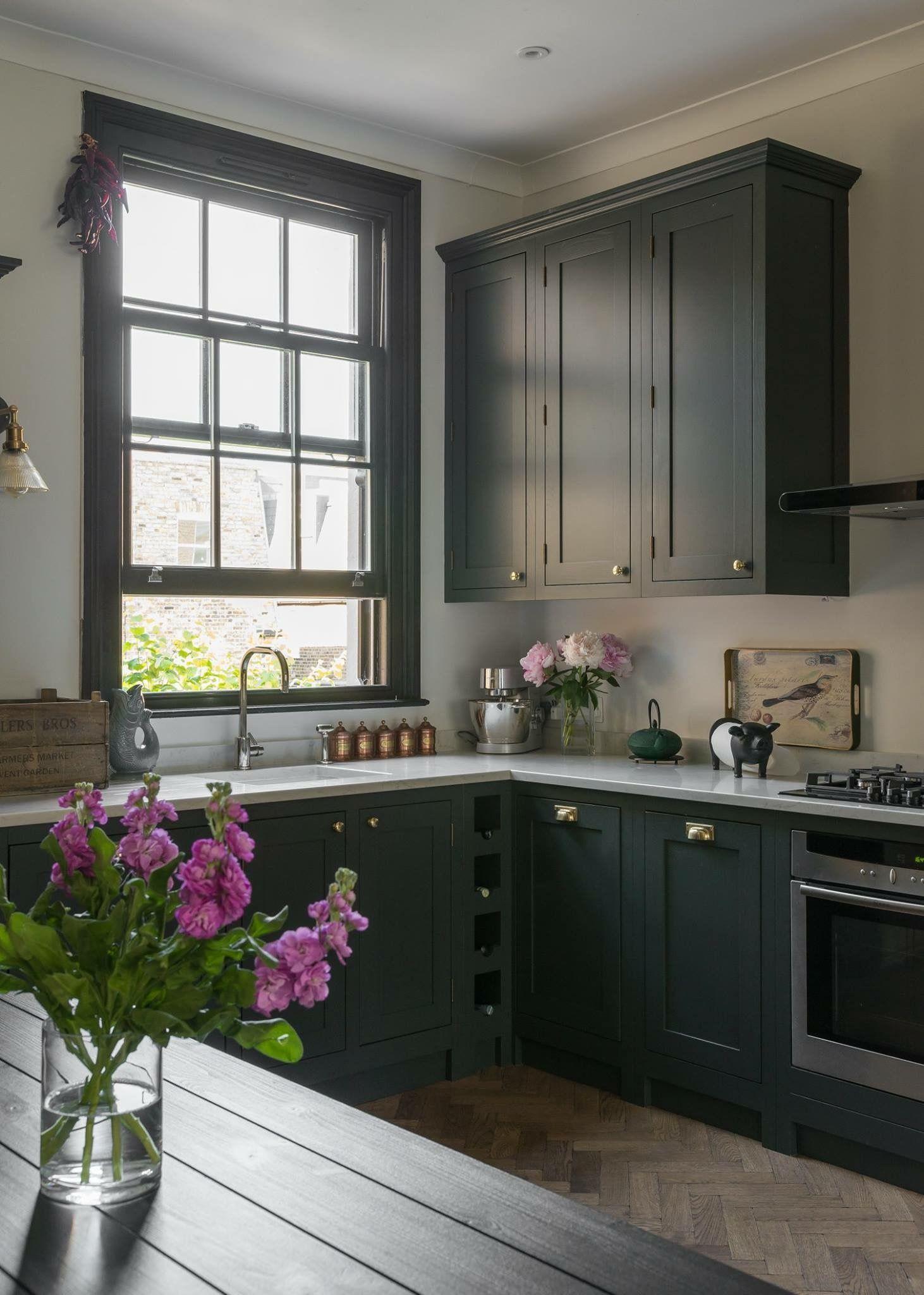 gray kitchen cabinets light gray walls   Dark grey kitchen ...