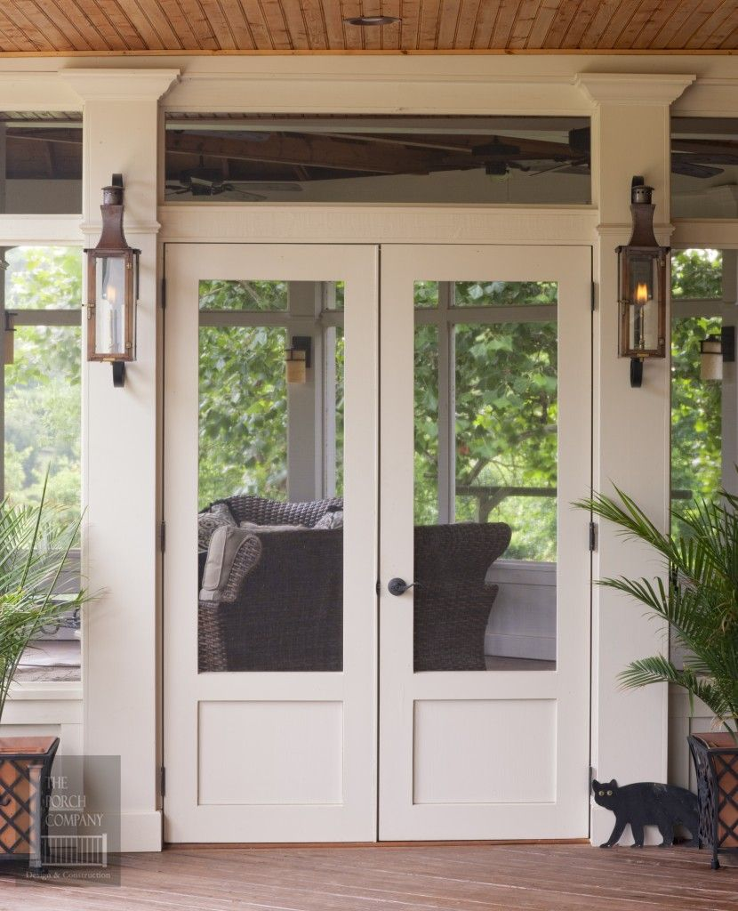 Custom Porch Door With Mid Rails To Match Porch Porch Conversion