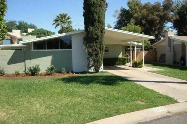 Exterior 1950s House Mid Century Exterior Carport Designs