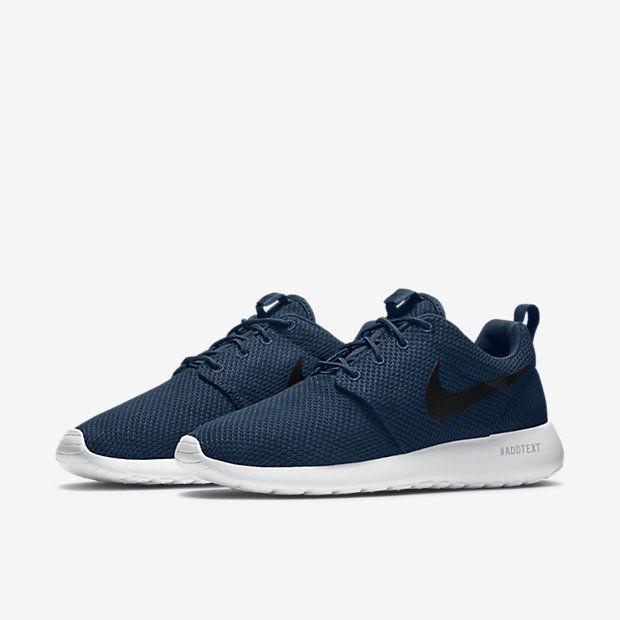 b7673c180850 Nike Roshe Run One Mens Shoes 8.5 Midnight Navy Black White 511881 405  Nike   RunningCrossTraining