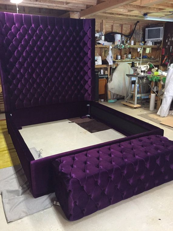Wingback Tufted Bed King Size Queen Size Full Size Wing Back Tufted ...
