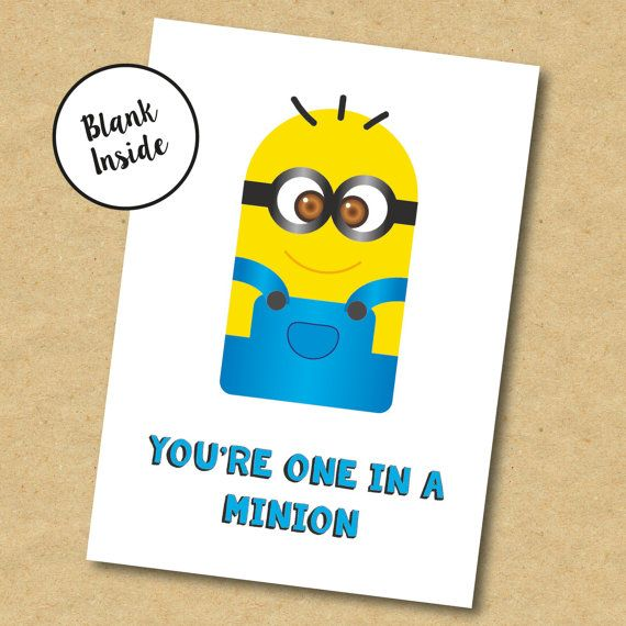 Minion birthday card for boyfriend girlfriend brother sister or minion birthday card for boyfriend girlfriend brother sister or friend https bookmarktalkfo Image collections