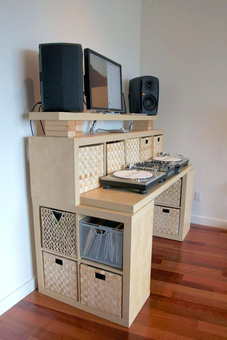 Incredible Ikea Standing Desk Hack With Wood Desk Inspired by h-shaped And  Completed With Filling Cabinets And Drawers