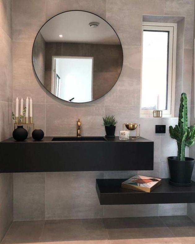 Modern Scandinavian Bathroom Interior In White - Interior Design Ideas & Home Decorating Inspiration - moercar
