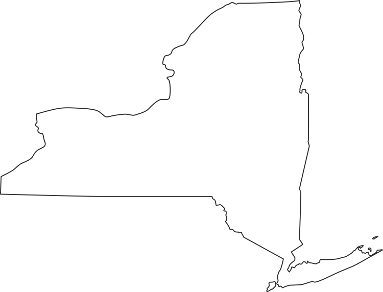 New York Outline Map Png New York Tattoo Map Of New York State Outline