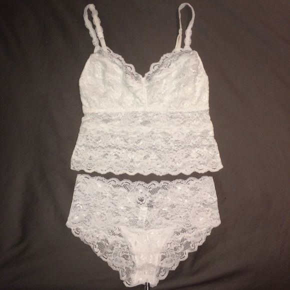 N E W  |  L I N G E R I E Brand new without tags; white lace bandeau bralette with adjustable straps & matching panties; made in Italy; perfect bridal lingerie; no trades; reasonable offers accepted Cosabella Intimates & Sleepwear