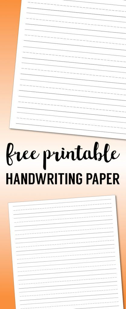 Free Printable Lined Paper {Handwriting Paper Template Pinterest