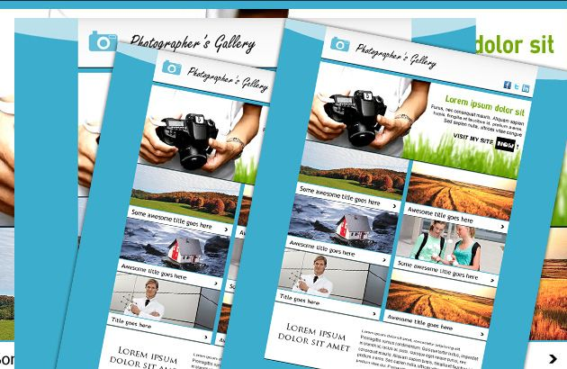 Photo Newsletter Free Psd Newsletter Template Psd Style Free