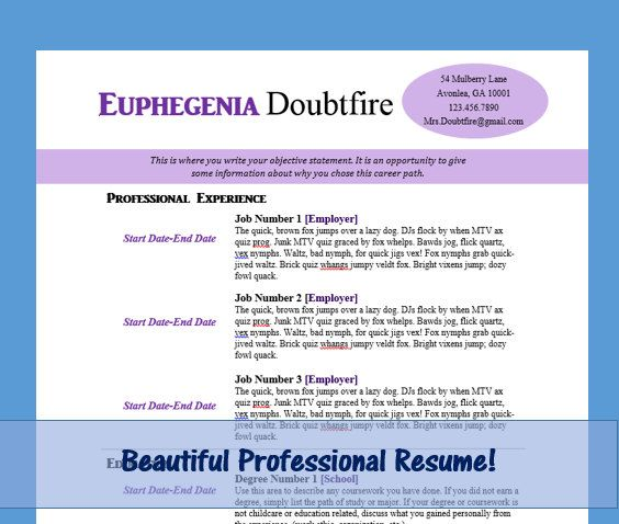 Complete Resume Template Set  Resume  Cover Letter  Reference