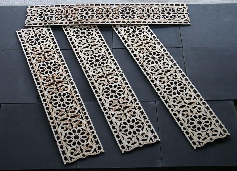 Schablonen Intarsien Schablone Holzornament Vorlageverzierung Ein Holzornamente Ornamente Holz