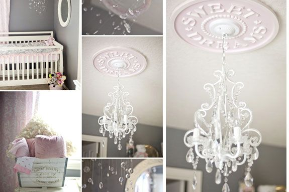 Chandelier In The Baby S Room Why Yes Please
