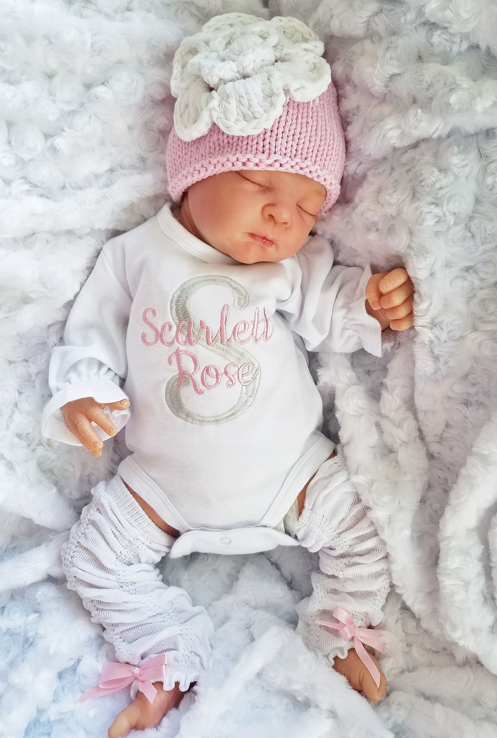 Personalised newborn baby gift Baby BABYGROW embroidered 4 designs