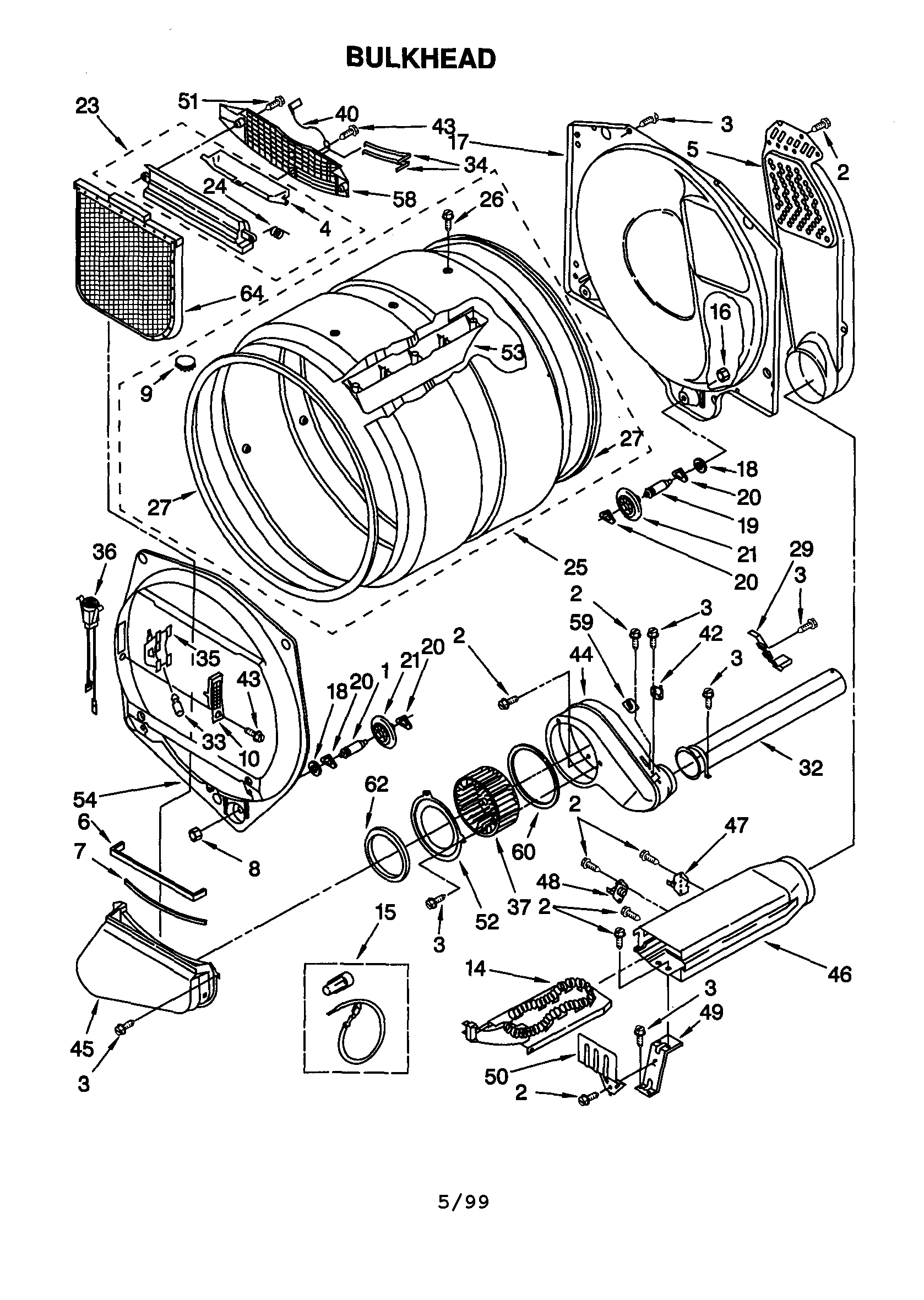 Kenmore 90 Series model 110 60912990 parts diagram | Dryer Repair