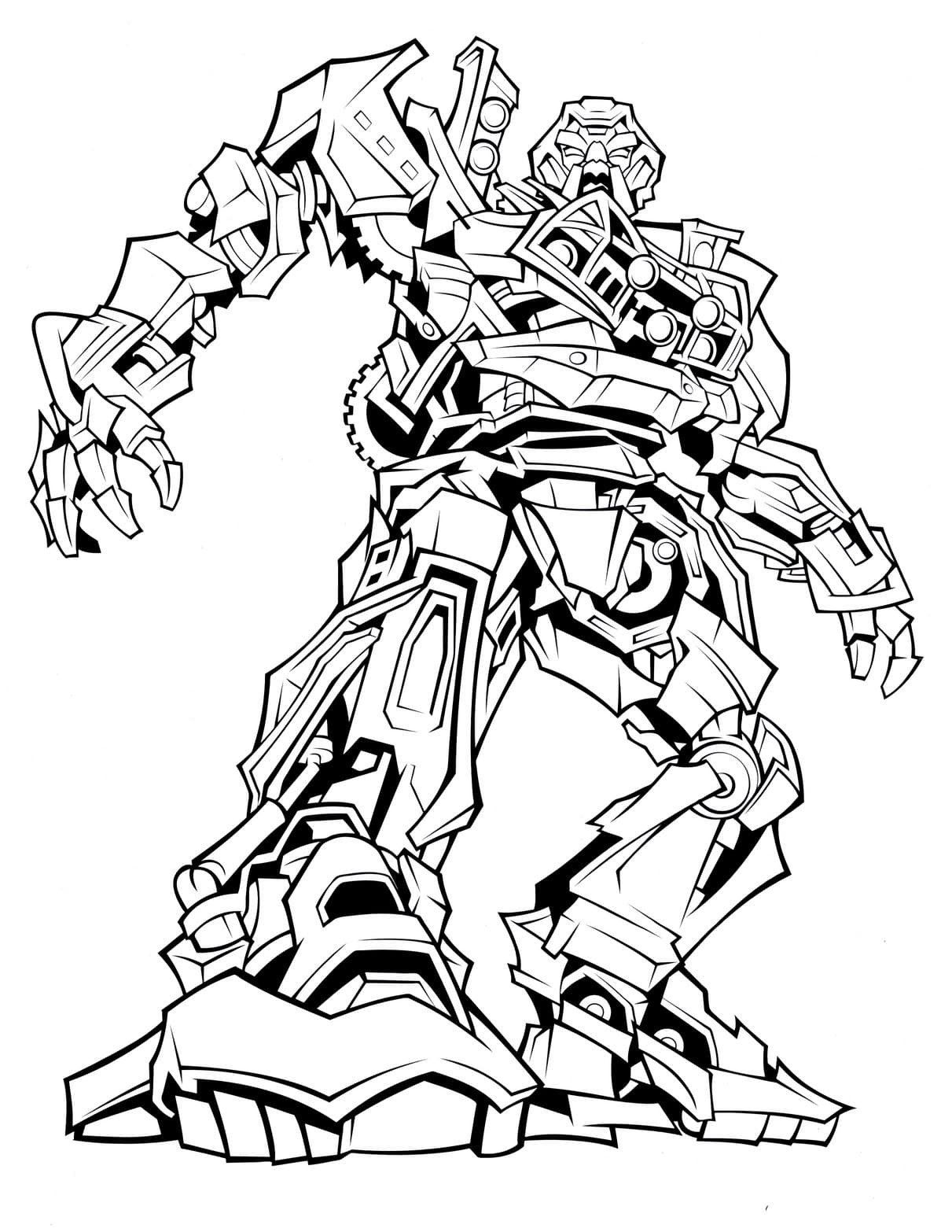 Free Coloring Pages For Boy Transformers Coloring Pages