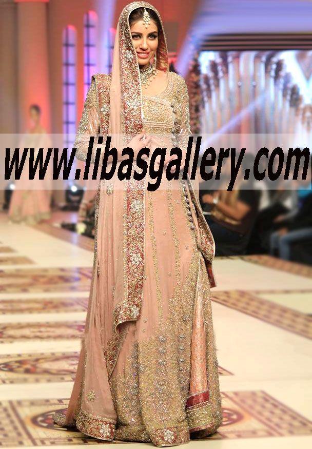 Mehdi Telenor Bridal Couture Week 2014 2015 Gorgeous Angrakha Bridal