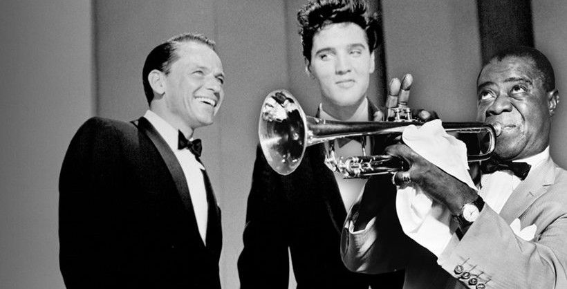 Frank Sinatra Elvis Presley And Louis Armstrong Elvis Presley Facts Elvis Elvis Presley