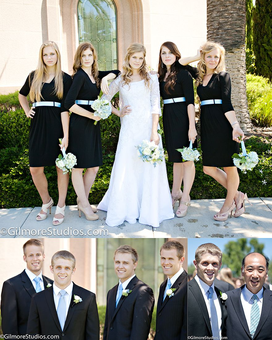 Newport Beach Lds Temple Wedding Bridesmaids Dress Family Bride Groom