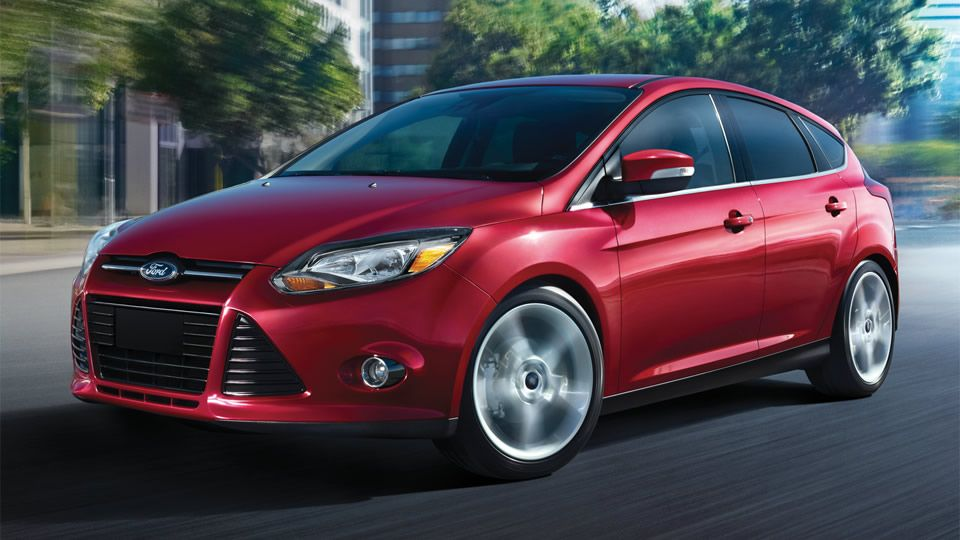 2014 Ford Focus Hatchback Red Car Front Side Wallpapers Ford