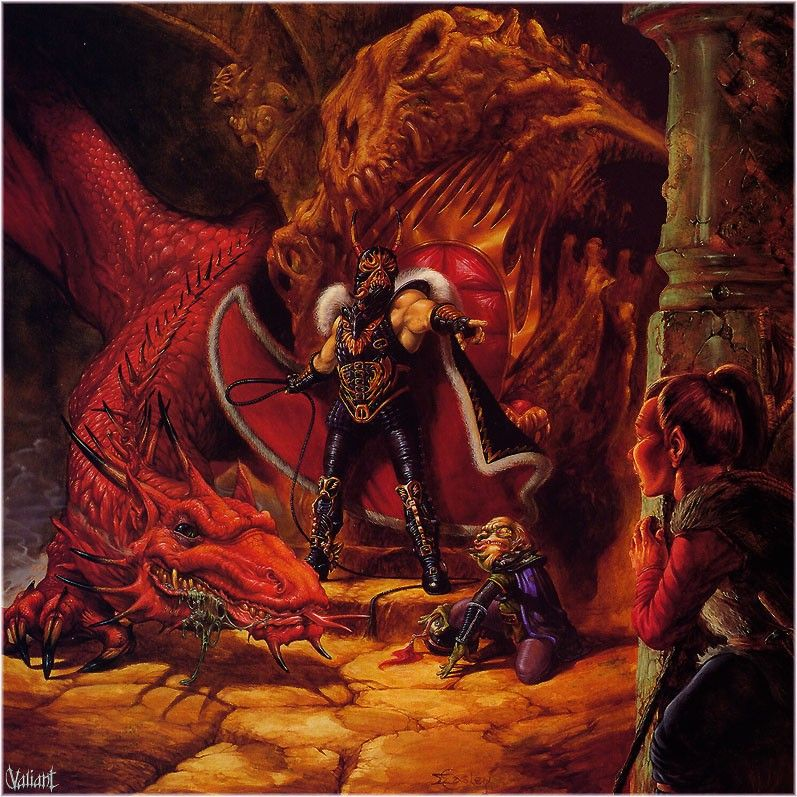 What Genre Is Warriors Into The Wild: Fantasy-drawings-Larry-Elmore-Dragon-Highlord-Tasslehoff