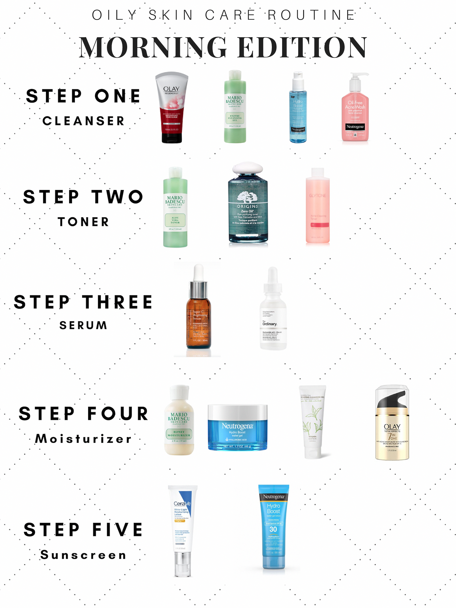 Morning Oily Skin Care Routine Step By Step Skin Care Guide With Affordable Healthy Products Peelofffa Oily Skin Care Routine Oily Skin Care Skin Care Guide