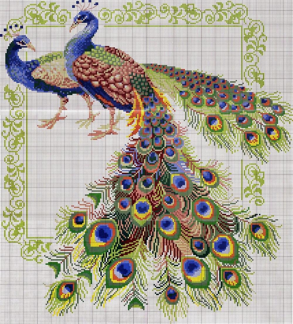 MATIN LUMINEUX: Broderie   Modèles de point de croix, Fleurs au point de croix, Oiseaux de point ...