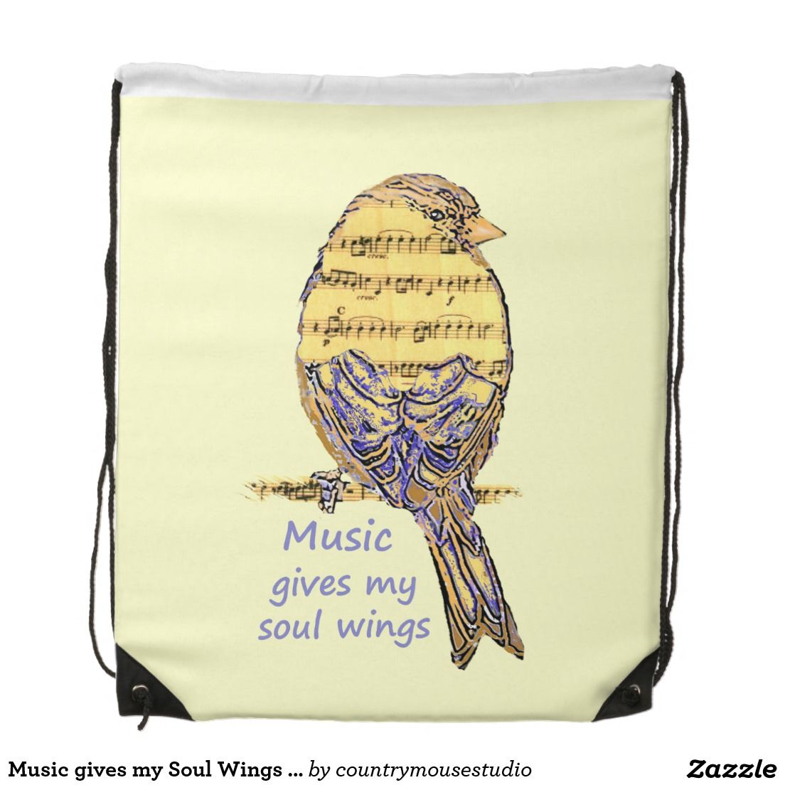 Music gives my Soul Wings Cute Note Bird Art   Music Gifts, Decor ...