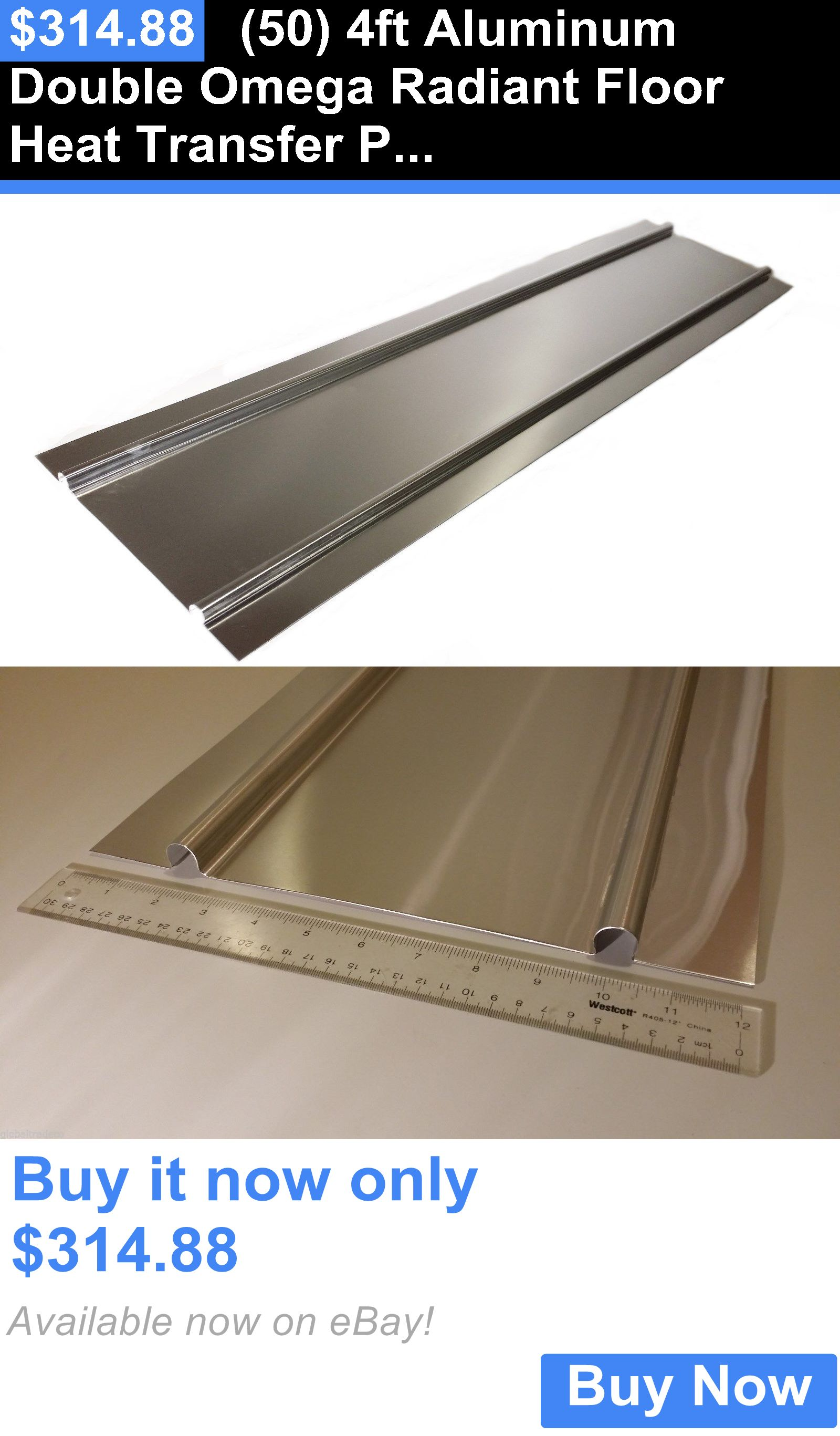 Materials 50 4Ft Aluminum Double Omega Radiant Floor Heat