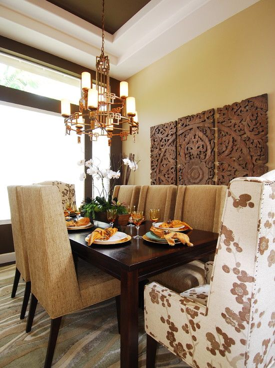 Asian Dining Room Zebra Print Design Pictures Remodel Decor And Ideas