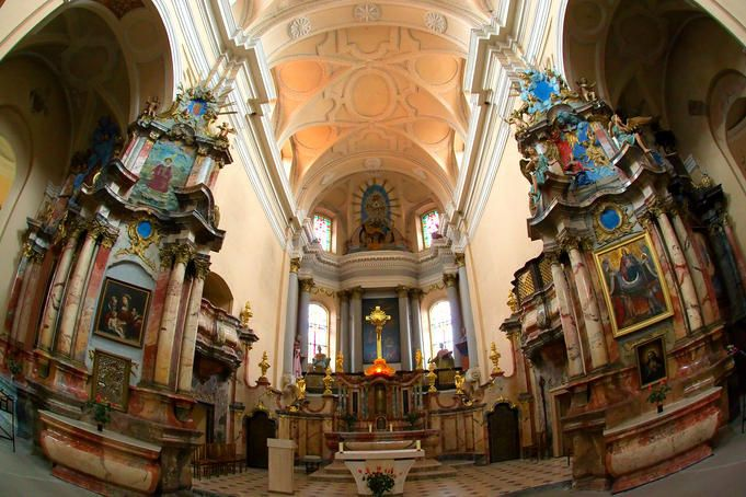 Interior of All Saints Church, Vilnius,Lithuania