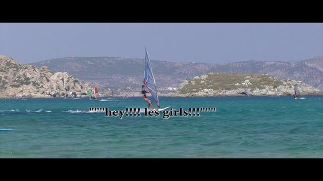 Nascimo Fournier, 13 ans août 2015 Karpathos Clew First Spock 540, and the girls #Sailloft #Enemii #MauiUltraFins #EspaceWindsurf #F2Windsurfing (Music : Life Tree (Greece))(https://www.youtube.com/watch?v=KUmRZJulU-w)