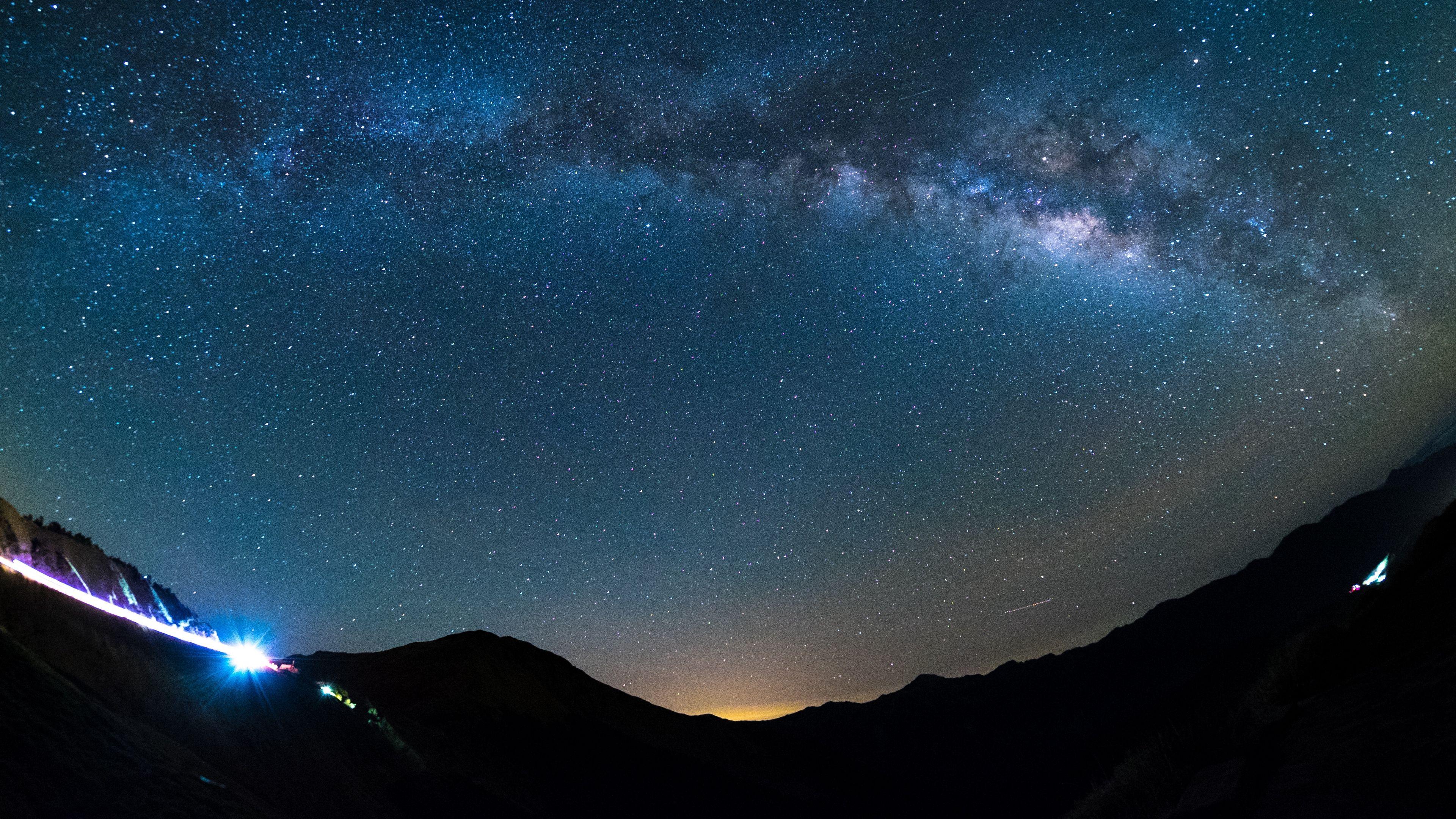 Starry Sky Shine Glitter 4k Starry Sky Shine Glitter Starry Sky Sky 4k Wallpaper For Mobile