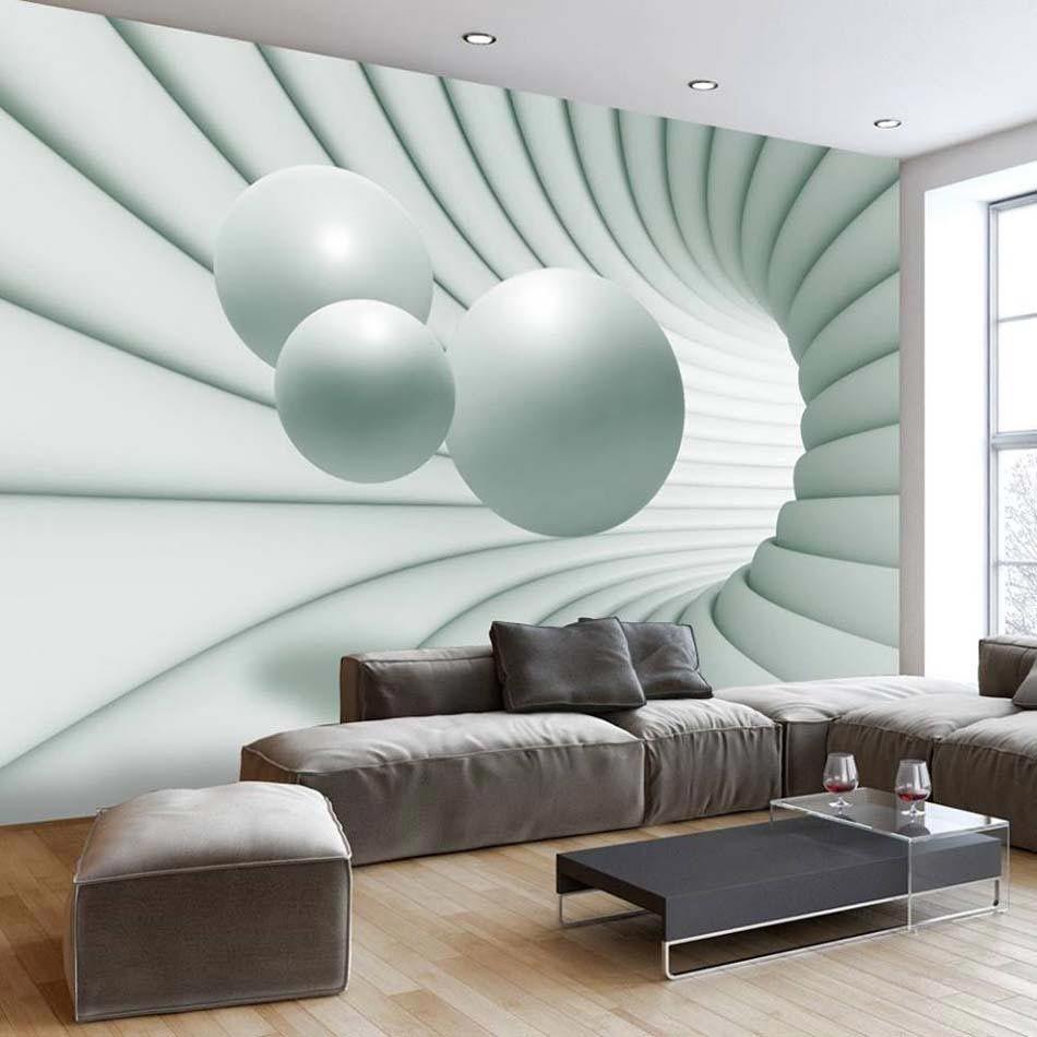 Papier Peint 3d Creant Un Effet Abstrait Et Trompe L œil Saisissant