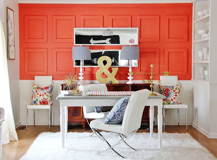 9 coral color decorating ideas for your inspiration on paint colors for professional office id=16106