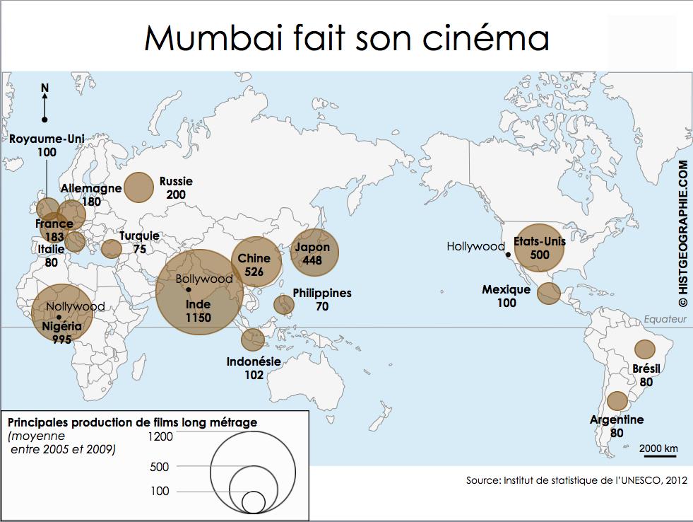 Mumbai, capitale du cinéma indien et mondial en nombre de
