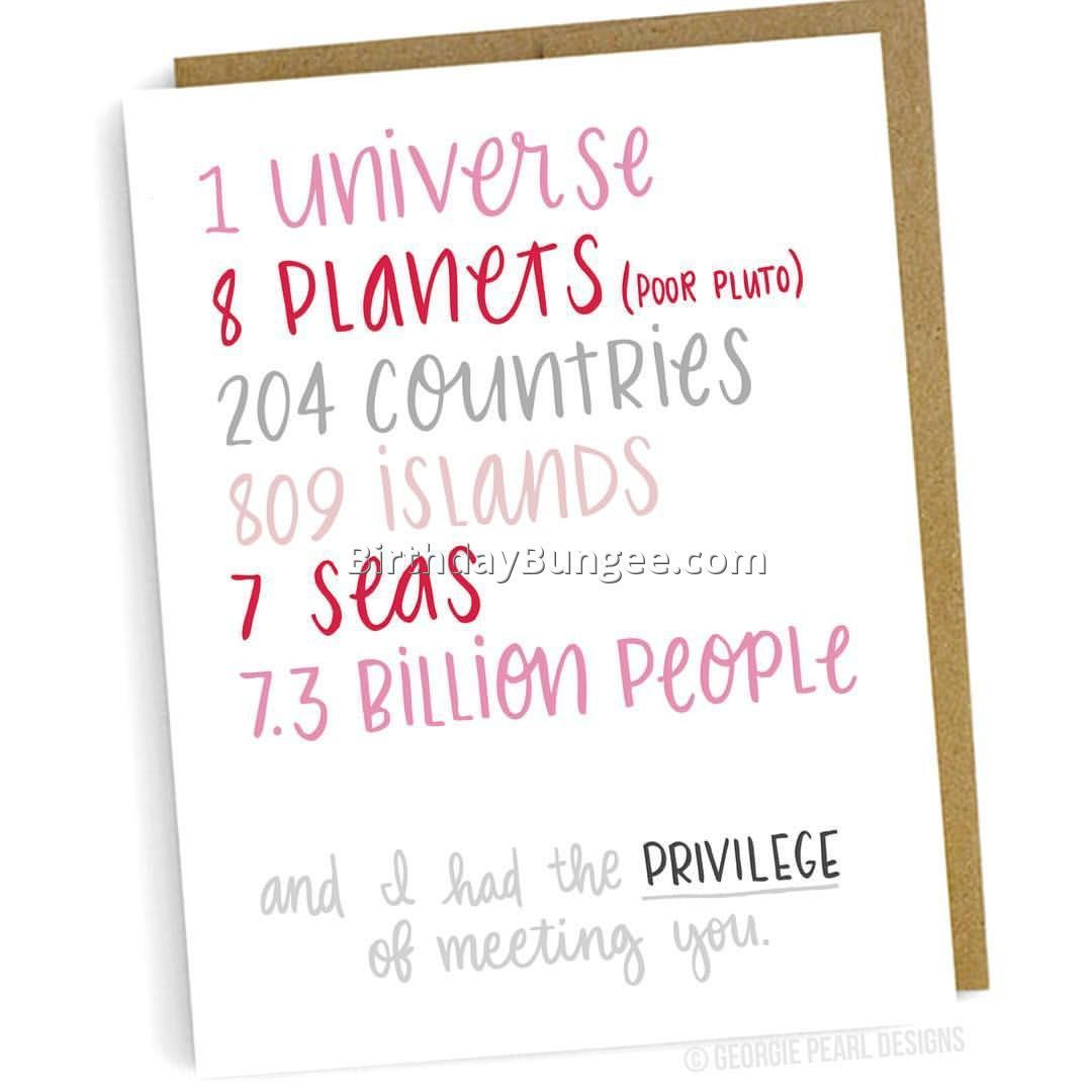 Image Result For One Universe Birthday Cards Friend Gift Ideas