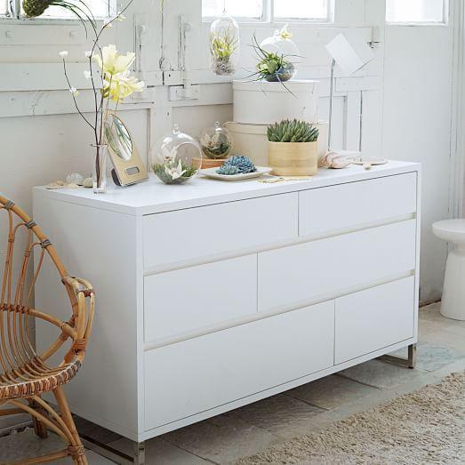 Hudson 6 Drawer Dresser White