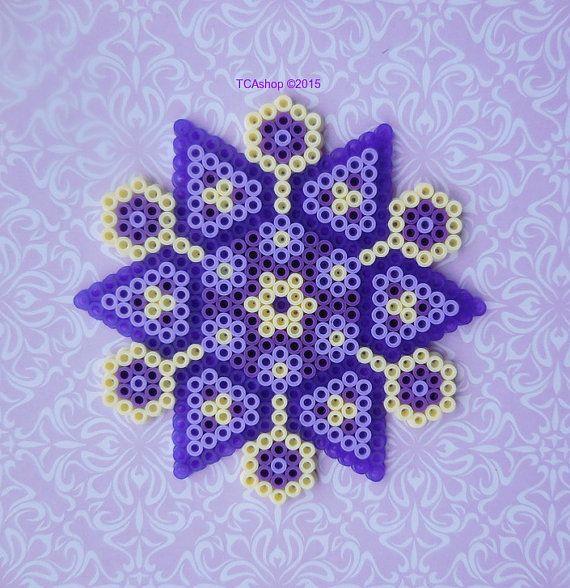 Purple Ornament Hama Beads by TCAshop on Etsy