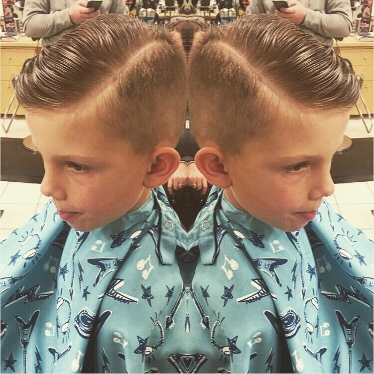Trendy Little Boy Haircut Short On Sides Long On Top Hard Part
